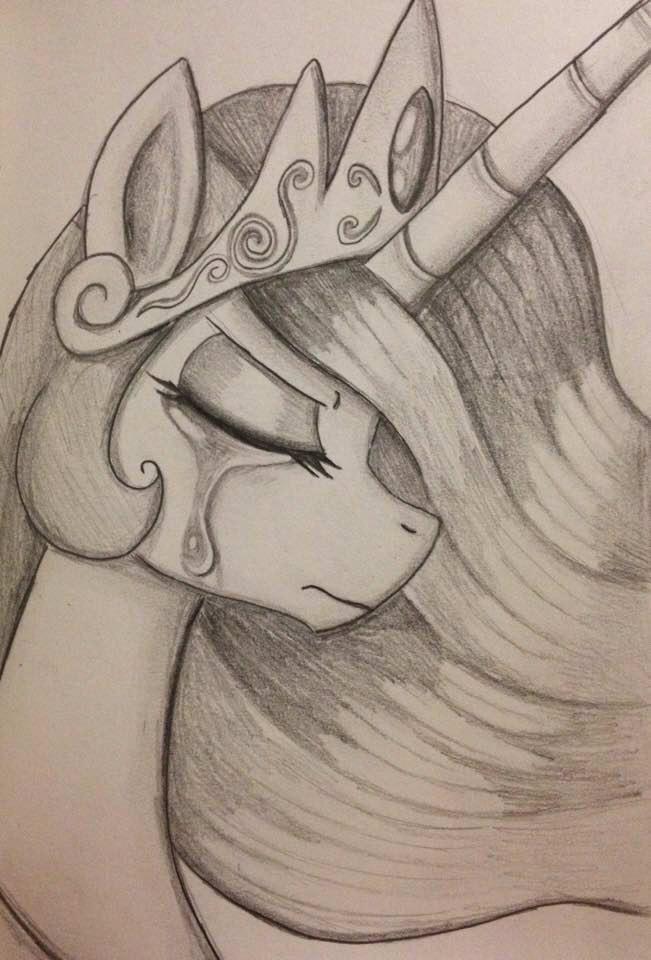 Картинки для срисовки пони принцесса селестия