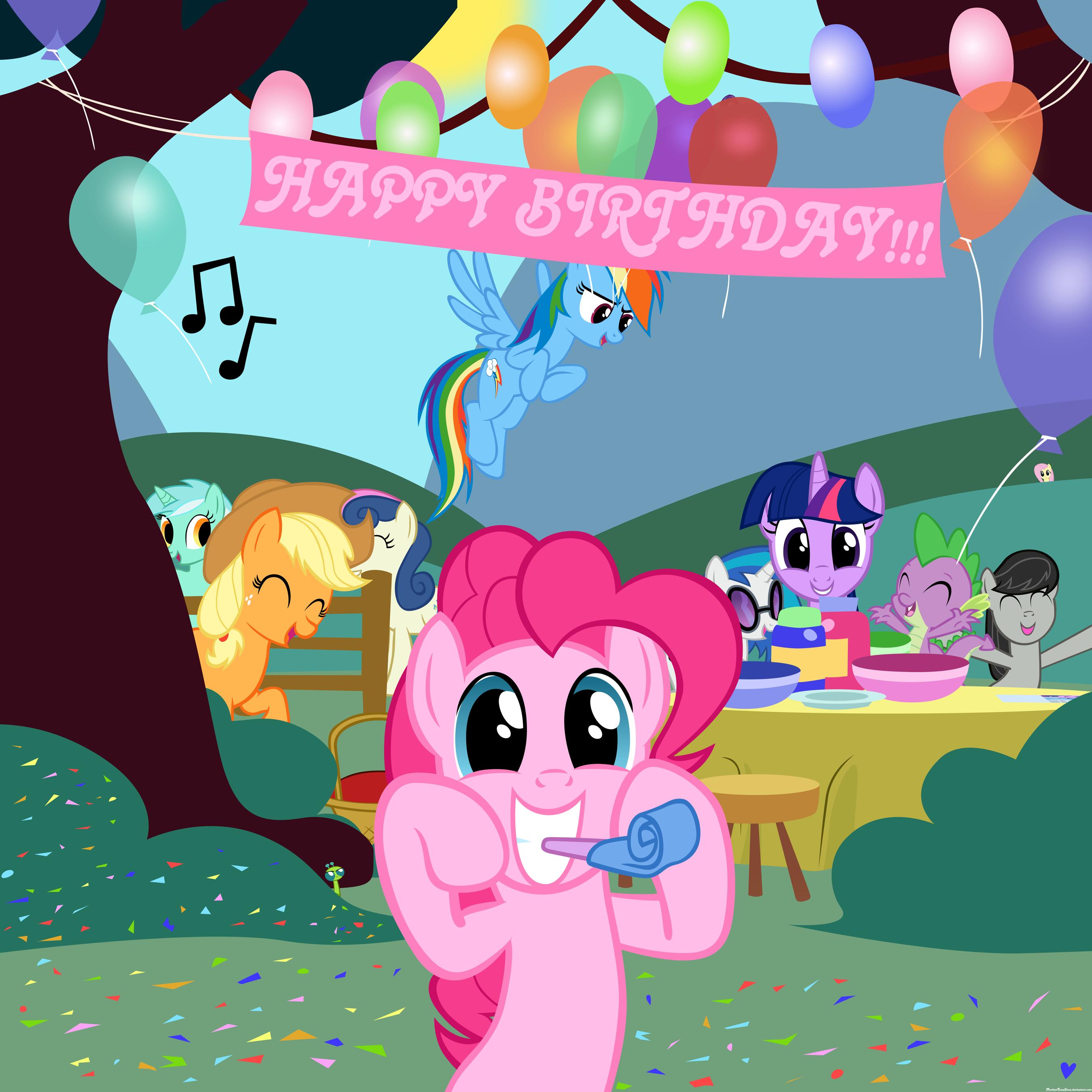 Открытки днем, открытки с днем рождения с май литл пони