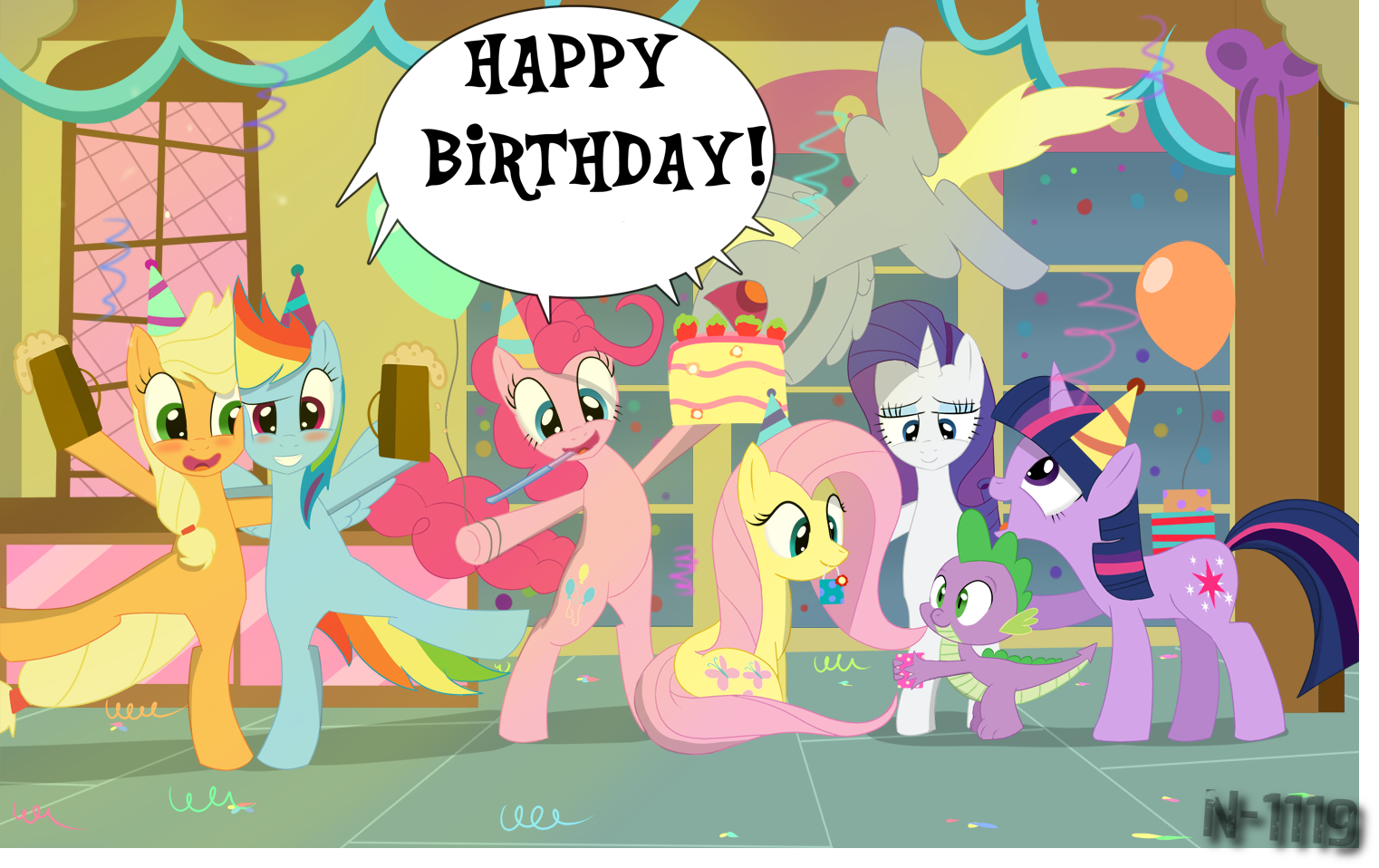 Картинки с пони на день рождения