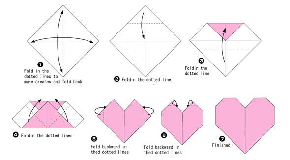 Оригами схемы сердца для начинающих